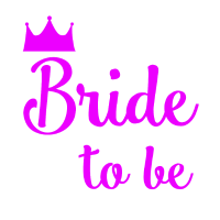 Bride to be Krone JGA Party pink