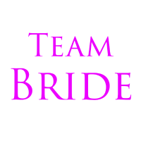 Team Bride Schrift JGA Party pink