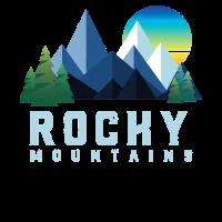 Weinlese Rocky Mountains Retro Nationalpark