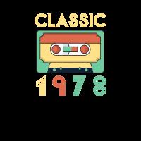 Classic Mixtape Cassette Geburtstag 1978