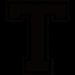Letter T in de grunge look