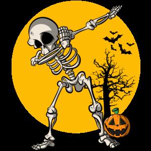 Halloween Dabbing Skelett