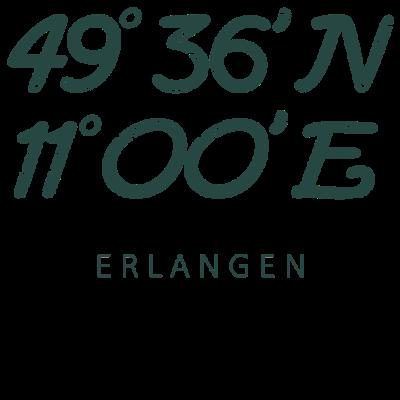 Erlangen Koordinaten Geschenk Duisburger Heimat - Tolles Vintage Erlangen Design für alle Erlanger. - geburtstagsgeschenk,Koordinaten,erlanger,städter,stadt,erlangen,vintage,beste,heimatliebe,Geburtstag,frau,heimat,idee,Heimatstadt,geburtsort,geschenkidee