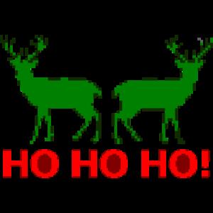 Strickmotiv Weihnachten HO HO HO Ugly Christmas