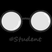 Hashtag Studentenbrille