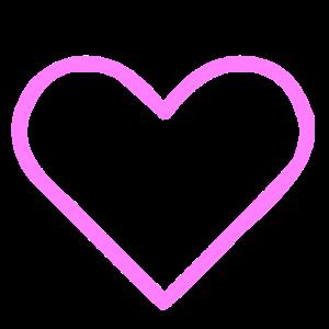 Ein pinkes Herz für die Liebe