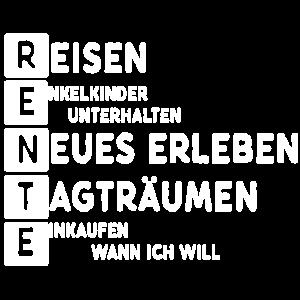 Rente Reisen Rentner Pension Ruhestand Geschenk
