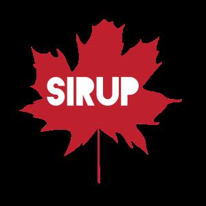 Ahornsirup Ahornblatt im Kanada Stil Sirup