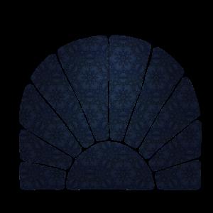 geometrie blauer hintergrund rund