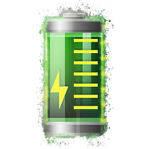 Batterie Energie hell glühend