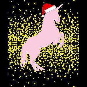 Einhorn Weihnachtsmuetze Geschenk Kinder sterne