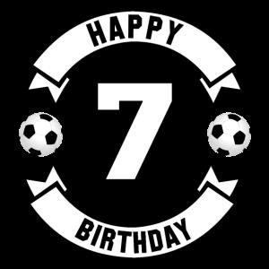 7. Geburtstag Jungen Happy Birthday Fussball
