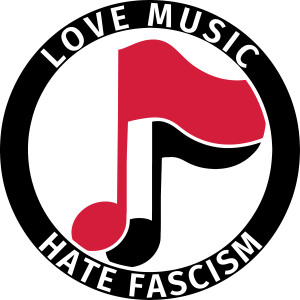 Antifa Logo Humor Love Music Hate Fascism Musik