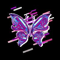 Irisierend chromatisch 80er Retro Violett