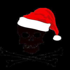 Skelett Weihnachtsmuetze Geschenk Tattoo