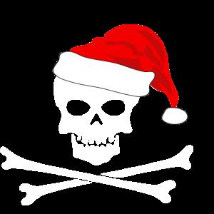 Skelett Weihnachtsmuetze Geschenk Tattoo biker