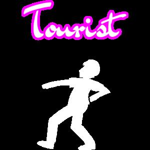 Tourist Figur (weiss)