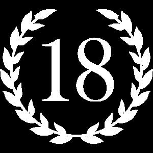 18 Geburtstag Geschenk Lorbeer