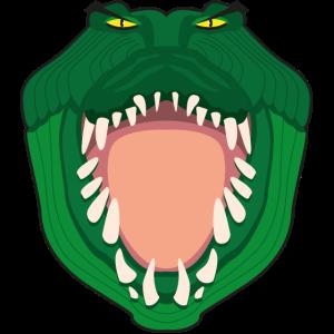 Krokodil Raubkarikatur