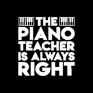 Lustiger Klavier-Lehrer ist rechte Klavierlehrer