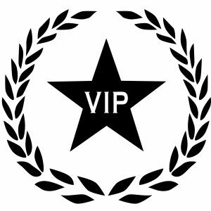 01 VIP Stern Lorbeerkranz Lorbeer