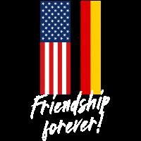 Deutschland USA Friendship Forever Freundschaft