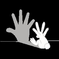 Hase Schatten - Schattenfigur, Lustig, Geschenk