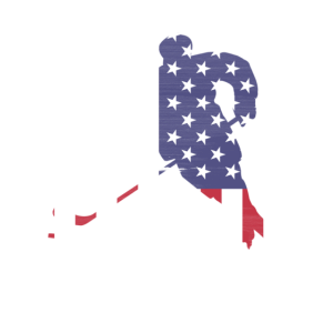 USA Flagge Hockey Silhouette