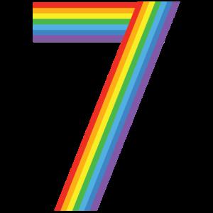 Kids Happy Family Clothing Rainbow 7th Birthday