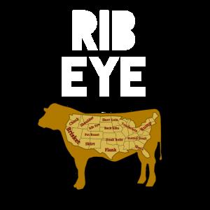 Rib Eye Fleischfresser Antiveganes Rindershirt