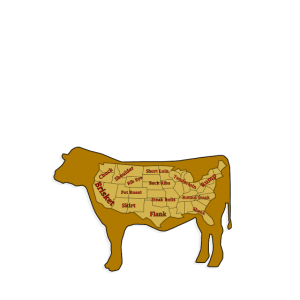 Schulter Rinderfleisch Rindsfleisch Legende