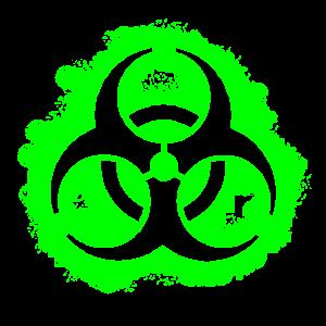 Bio Hazard Umriss gift-grün