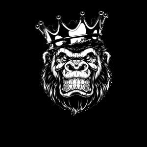 Gorilla mit Krone
