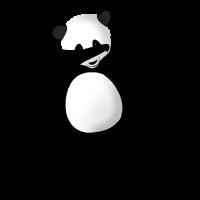 Trendy Dab Dance Panda Bär