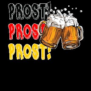 Prost jubelt Oktoberfest Spaß-deutsches Bier-Festival-Entwurf für Bier-Liebhaber und Bier-Trinker
