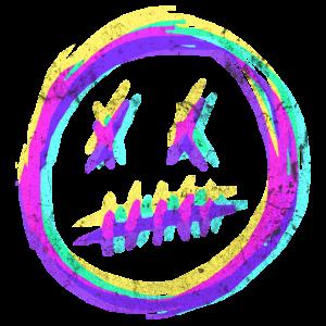 Verrücktes Smiley Gesicht - RGB Glitch