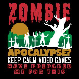 Gamer Zombie Apocalypse Video Games