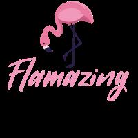 Flamazing flamingo bff friends awesome festival