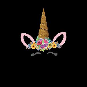 Einhorn Blumenkranz Wimpern Schön