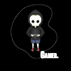 Gaming Skelett Hoodie Kapuze Gamepad Gamer