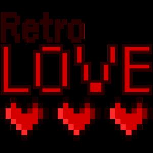 Retro Love Pixel