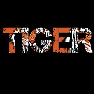 TIGER SHIRT WORT GESCHENK TIGER MUSTER TSHIRT