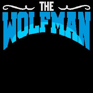 WOLF MANN TSHIRT IDEE TIERLIEBHABER SHIRT LUSTIG