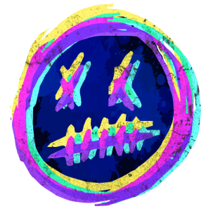 Crazy Smiley Emoticon - RGB Glitch