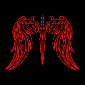 Tribal Tattoo Engelsflügel rot