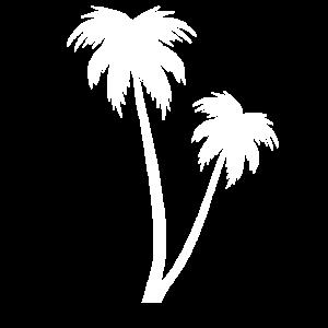 Weiße Palme am Strand