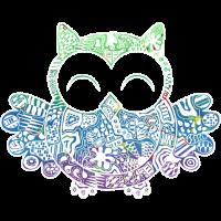 Owli weiß bunt
