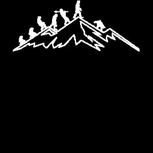Snowboarder Evolution Bergabfahrt