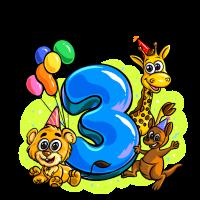 Happy Birthday Drei Jahre alt