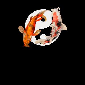 Yin Yang Koi Fisch Koiteich Asiatisch Japan Idee